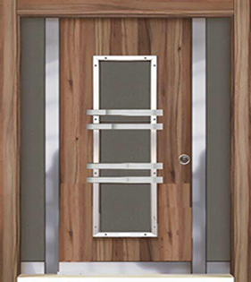 درب ضد سرقت ترک 1.5 لنگه ورودی ساختمان